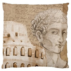 Colosseum Rome Caesar Background Large Cushion Case (two Sides)