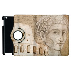 Colosseum Rome Caesar Background Apple Ipad 2 Flip 360 Case