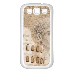 Colosseum Rome Caesar Background Samsung Galaxy S3 Back Case (white)