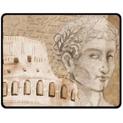 Colosseum Rome Caesar Background Double Sided Fleece Blanket (medium)