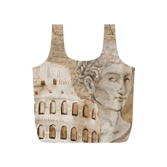 Colosseum Rome Caesar Background Full Print Recycle Bags (s)