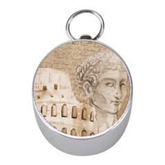 Colosseum Rome Caesar Background Mini Silver Compasses