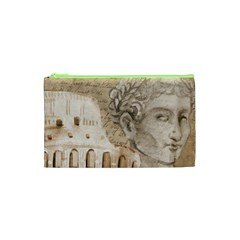 Colosseum Rome Caesar Background Cosmetic Bag (xs)