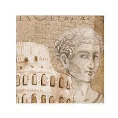 Colosseum Rome Caesar Background Small Satin Scarf (square)