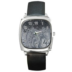 Abstract Art Decoration Design Square Metal Watch