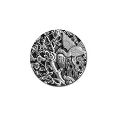 Black And White Pattern Texture Golf Ball Marker (4 Pack)