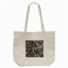 Black And White Pattern Texture Tote Bag (cream)