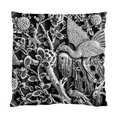Black And White Pattern Texture Standard Cushion Case (one Side)
