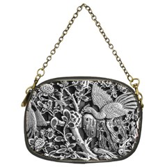 Black And White Pattern Texture Chain Purses (two Sides)