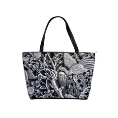 Black And White Pattern Texture Shoulder Handbags
