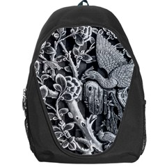 Black And White Pattern Texture Backpack Bag