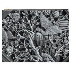 Black And White Pattern Texture Cosmetic Bag (xxxl)