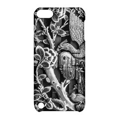 Black And White Pattern Texture Apple Ipod Touch 5 Hardshell Case With Stand