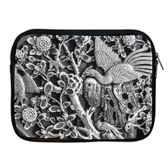 Black And White Pattern Texture Apple Ipad 2/3/4 Zipper Cases