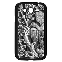 Black And White Pattern Texture Samsung Galaxy Grand Duos I9082 Case (black)