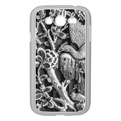 Black And White Pattern Texture Samsung Galaxy Grand Duos I9082 Case (white)