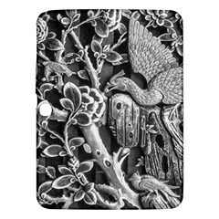 Black And White Pattern Texture Samsung Galaxy Tab 3 (10 1 ) P5200 Hardshell Case