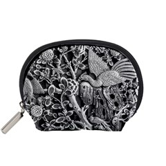 Black And White Pattern Texture Accessory Pouches (small)