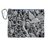 Black And White Pattern Texture Canvas Cosmetic Bag (XXL) Front