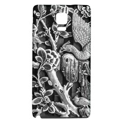 Black And White Pattern Texture Galaxy Note 4 Back Case