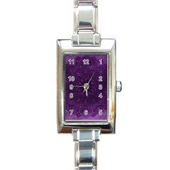 Background Purple Mandala Lilac Rectangle Italian Charm Watch