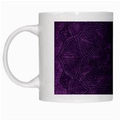 Background Purple Mandala Lilac White Mugs