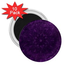 Background Purple Mandala Lilac 2 25  Magnets (10 Pack)