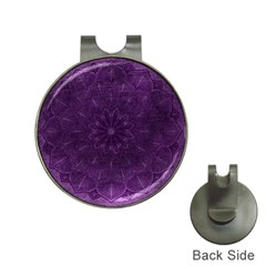 Background Purple Mandala Lilac Hat Clips With Golf Markers