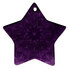 Background Purple Mandala Lilac Star Ornament (two Sides)