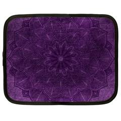 Background Purple Mandala Lilac Netbook Case (large)