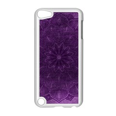 Background Purple Mandala Lilac Apple Ipod Touch 5 Case (white)