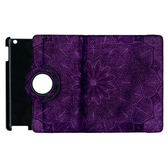 Background Purple Mandala Lilac Apple Ipad 2 Flip 360 Case