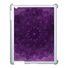 Background Purple Mandala Lilac Apple Ipad 3/4 Case (white)