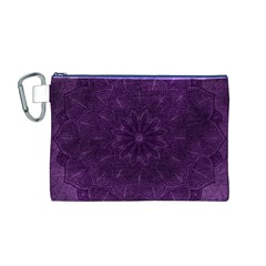 Background Purple Mandala Lilac Canvas Cosmetic Bag (m)