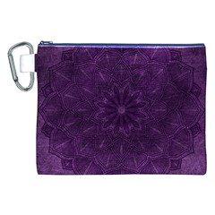 Background Purple Mandala Lilac Canvas Cosmetic Bag (xxl)