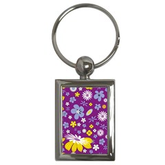 Floral Flowers Key Chains (rectangle)