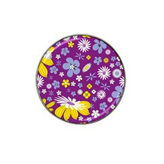 Floral Flowers Hat Clip Ball Marker (10 Pack)
