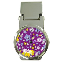 Floral Flowers Money Clip Watches