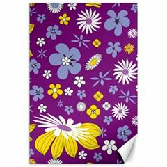 Floral Flowers Canvas 24  X 36