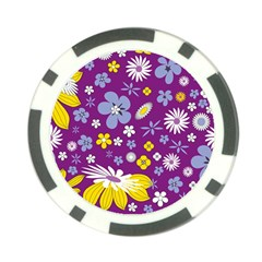 Floral Flowers Poker Chip Card Guard