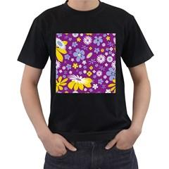 Floral Flowers Men s T Shirt (black)