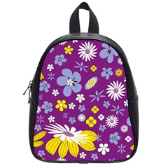 Floral Flowers School Bag (small)