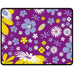 Floral Flowers Fleece Blanket (medium)