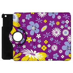 Floral Flowers Apple Ipad Mini Flip 360 Case