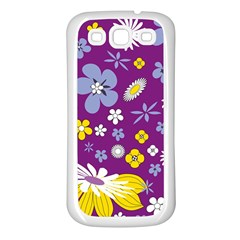 Floral Flowers Samsung Galaxy S3 Back Case (white)