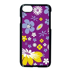 Floral Flowers Apple Iphone 7 Seamless Case (black)