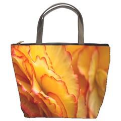 Flowers Leaves Leaf Floral Summer Bucket Bags
