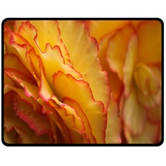Flowers Leaves Leaf Floral Summer Double Sided Fleece Blanket (medium)