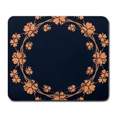 Floral Vintage Royal Frame Pattern Large Mousepads