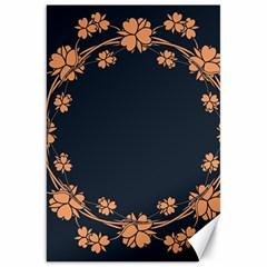 Floral Vintage Royal Frame Pattern Canvas 20  X 30